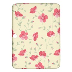 Seamless Flower Pattern Samsung Galaxy Tab 3 (10 1 ) P5200 Hardshell Case  by TastefulDesigns