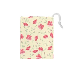 Seamless Flower Pattern Drawstring Pouches (small)  by TastefulDesigns