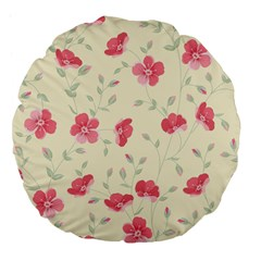 Seamless Flower Pattern Large 18  Premium Flano Round Cushions by TastefulDesigns