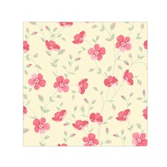 Seamless Flower Pattern Small Satin Scarf (square) by TastefulDesigns