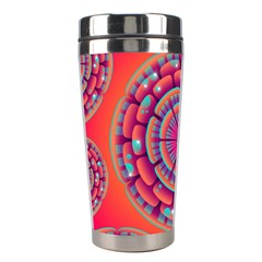 Pretty Floral Geometric Pattern Stainless Steel Travel Tumblers by LovelyDesigns4U