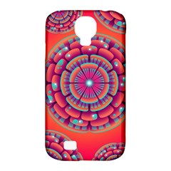 Pretty Floral Geometric Pattern Samsung Galaxy S4 Classic Hardshell Case (pc+silicone) by LovelyDesigns4U