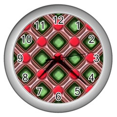 Gem Texture A Completely Seamless Tile Able Background Design Wall Clocks (silver)  by Nexatart