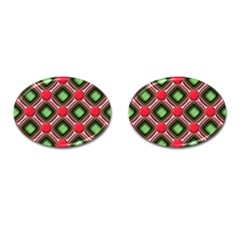 Gem Texture A Completely Seamless Tile Able Background Design Cufflinks (oval) by Nexatart