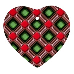 Gem Texture A Completely Seamless Tile Able Background Design Heart Ornament (two Sides)