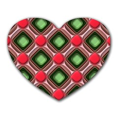 Gem Texture A Completely Seamless Tile Able Background Design Heart Mousepads by Nexatart