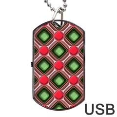 Gem Texture A Completely Seamless Tile Able Background Design Dog Tag Usb Flash (two Sides) by Nexatart