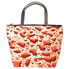 Water Drops Background Bucket Bags by Nexatart