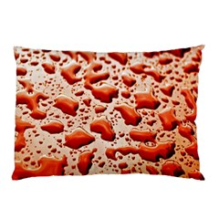 Water Drops Background Pillow Case (two Sides) by Nexatart