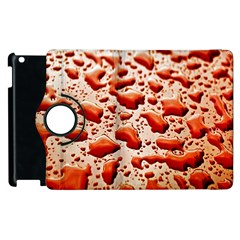 Water Drops Background Apple Ipad 3/4 Flip 360 Case by Nexatart