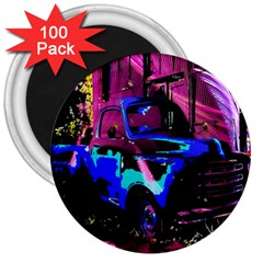 Abstract Artwork Of A Old Truck 3  Magnets (100 Pack) by Nexatart