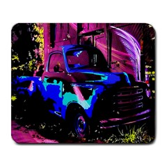 Abstract Artwork Of A Old Truck Large Mousepads by Nexatart