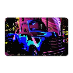 Abstract Artwork Of A Old Truck Magnet (rectangular) by Nexatart