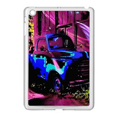 Abstract Artwork Of A Old Truck Apple Ipad Mini Case (white) by Nexatart
