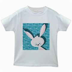 Easter Bunny  Kids White T Shirts