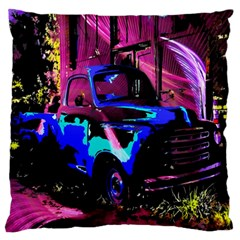 Abstract Artwork Of A Old Truck Large Flano Cushion Case (one Side) by Nexatart