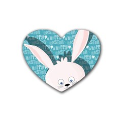 Easter Bunny  Heart Coaster (4 Pack)  by Valentinaart