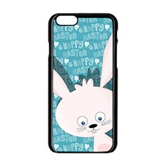 Easter Bunny  Apple Iphone 6/6s Black Enamel Case by Valentinaart