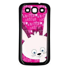 Easter Bunny  Samsung Galaxy S3 Back Case (black) by Valentinaart