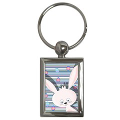 Easter Bunny  Key Chains (rectangle)  by Valentinaart