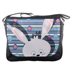 Easter Bunny  Messenger Bags by Valentinaart