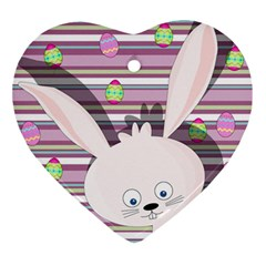 Easter Bunny  Ornament (heart) by Valentinaart