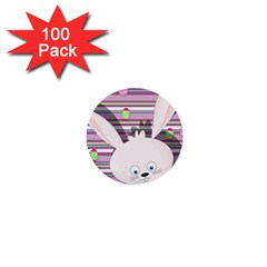 Easter Bunny  1  Mini Buttons (100 Pack)  by Valentinaart