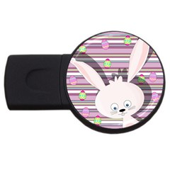 Easter Bunny  Usb Flash Drive Round (2 Gb) by Valentinaart