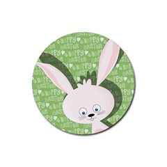 Easter Bunny  Rubber Round Coaster (4 Pack)  by Valentinaart