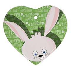 Easter Bunny  Heart Ornament (two Sides) by Valentinaart