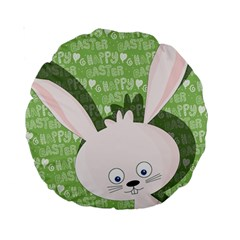 Easter Bunny  Standard 15  Premium Round Cushions by Valentinaart