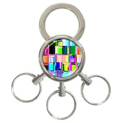 Glitch Art Abstract 3 Ring Key Chains by Nexatart