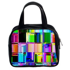 Glitch Art Abstract Classic Handbags (2 Sides) by Nexatart