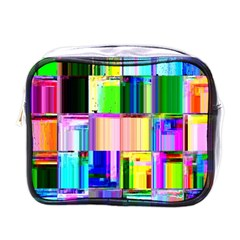 Glitch Art Abstract Mini Toiletries Bags by Nexatart