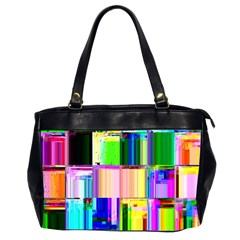 Glitch Art Abstract Office Handbags (2 Sides)  by Nexatart