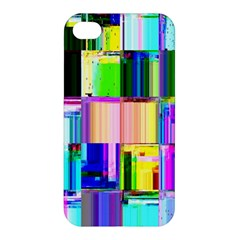Glitch Art Abstract Apple Iphone 4/4s Premium Hardshell Case