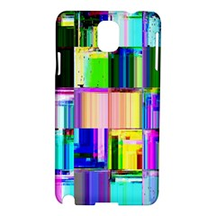Glitch Art Abstract Samsung Galaxy Note 3 N9005 Hardshell Case by Nexatart