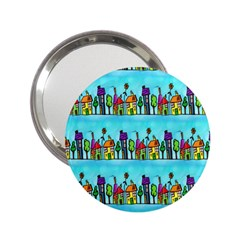 Colourful Street A Completely Seamless Tile Able Design 2 25  Handbag Mirrors by Nexatart
