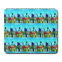 Colourful Street A Completely Seamless Tile Able Design Large Mousepads by Nexatart