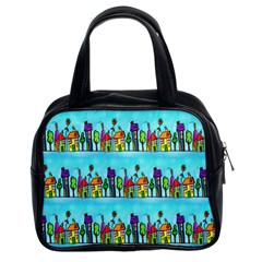 Colourful Street A Completely Seamless Tile Able Design Classic Handbags (2 Sides)