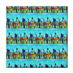 Colourful Street A Completely Seamless Tile Able Design Face Towel by Nexatart