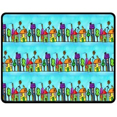 Colourful Street A Completely Seamless Tile Able Design Fleece Blanket (medium)