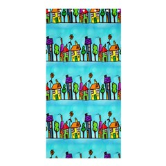 Colourful Street A Completely Seamless Tile Able Design Shower Curtain 36  X 72  (stall)  by Nexatart