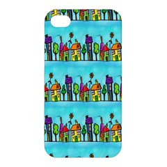 Colourful Street A Completely Seamless Tile Able Design Apple Iphone 4/4s Premium Hardshell Case by Nexatart