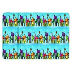 Colourful Street A Completely Seamless Tile Able Design Samsung Galaxy Tab 8 9  P7300 Flip Case by Nexatart