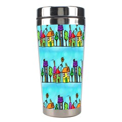 Colourful Street A Completely Seamless Tile Able Design Stainless Steel Travel Tumblers by Nexatart