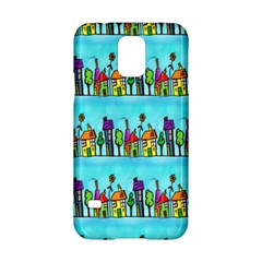Colourful Street A Completely Seamless Tile Able Design Samsung Galaxy S5 Hardshell Case  by Nexatart
