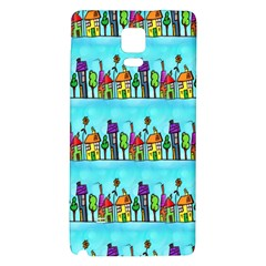Colourful Street A Completely Seamless Tile Able Design Galaxy Note 4 Back Case by Nexatart