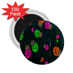 Cartoon Grunge Beetle Wallpaper Background 2 25  Magnets (100 Pack)