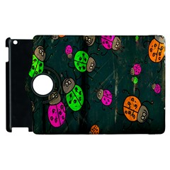 Cartoon Grunge Beetle Wallpaper Background Apple Ipad 3/4 Flip 360 Case by Nexatart
